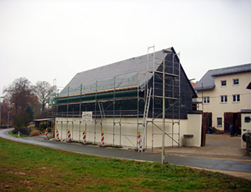 SCHÜCO- Großkollektoranlage im Bau