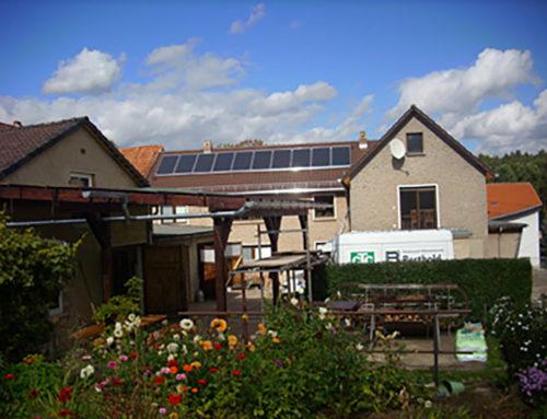 23 m²-Solaranlage mit 4 m³-Wärme-Hamster